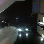 LED Lighting throughout with electric powered jet bath